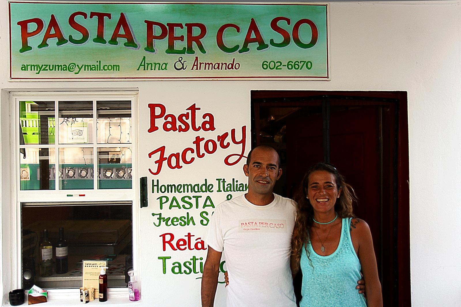 Italian restaurant Pasta per caso, caye caulker belize
