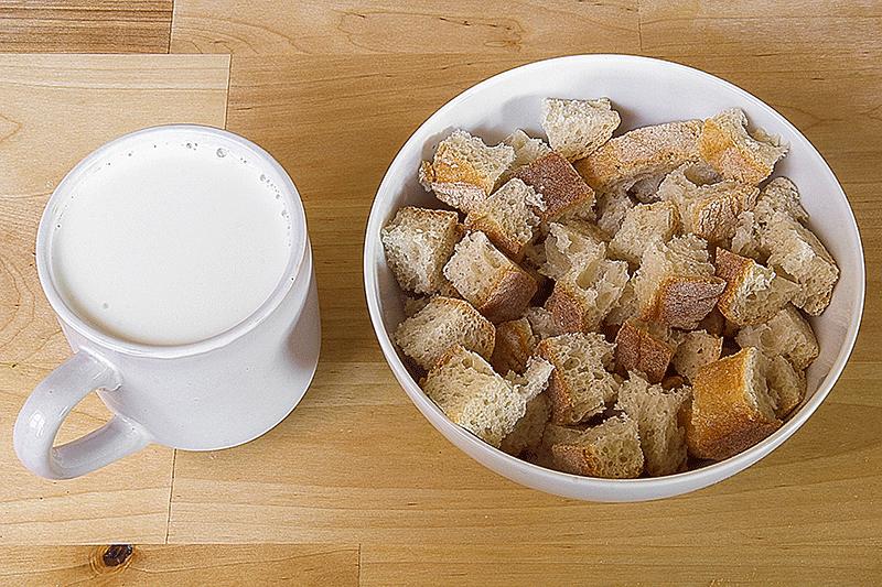 ciabatta bread and milk