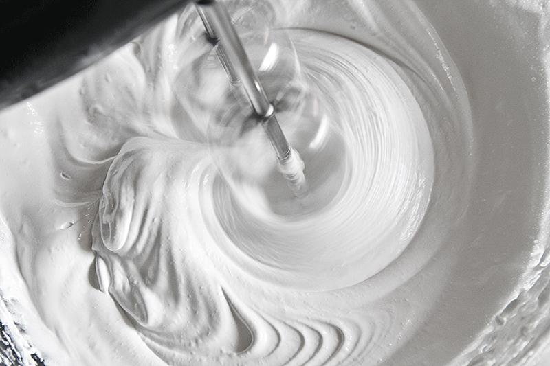 whipping egg white