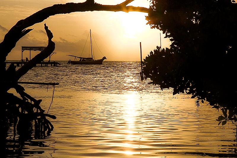 dawn at Caye Caulker, Belize