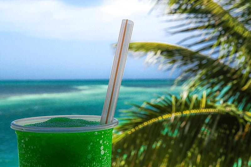 Lizard Juice cocktail. Lady Lizard, Belize