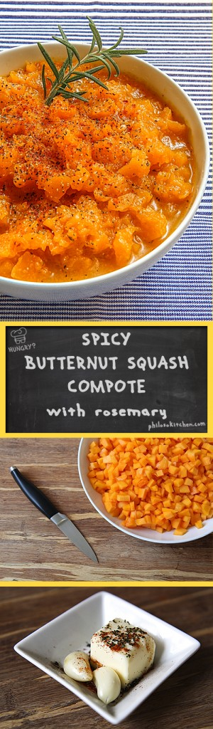 SPICY BUTTERNUT SQUASH COMPOTE with cayenne pepper and rosemary