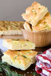 ROSEMARY FLATBREAD with olive oil (Italian focaccia)