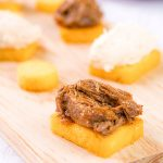 CROSTINI POLENTA RECIPE, great with cheese and meats