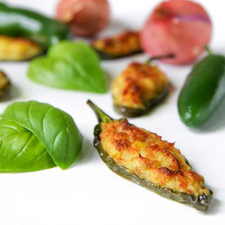 STUFFED JALAPENOS with potatoes, sausage and cheese