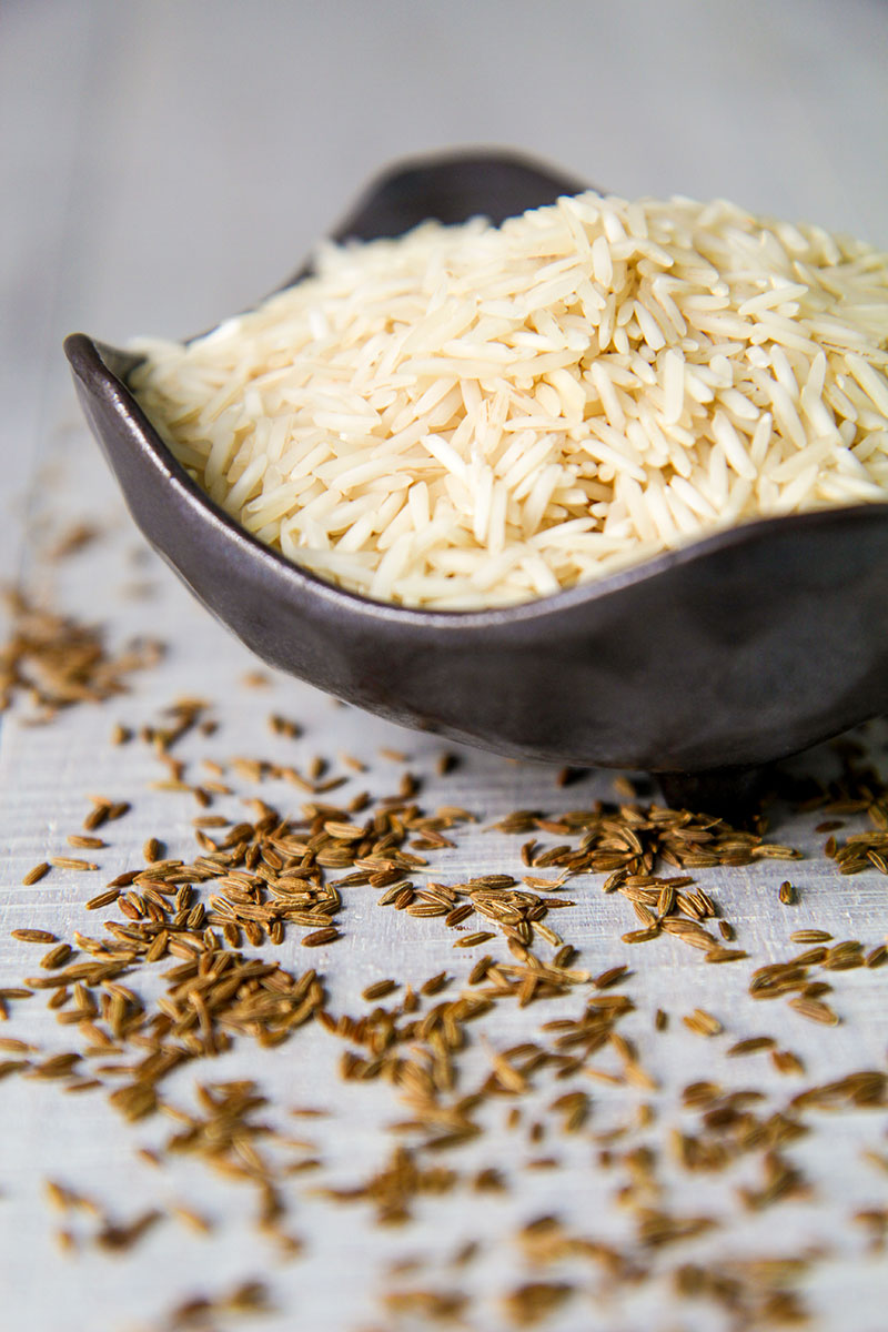 Rice basmati and cumin