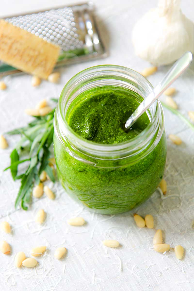 PESTO ARUGULA RECIPE for pasta and seasoning