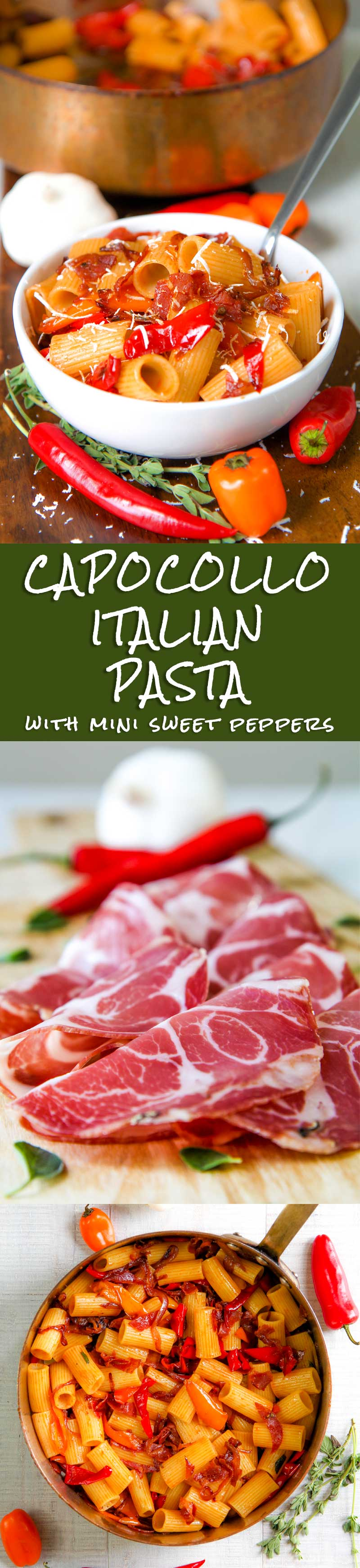 CAPOCOLLO AND MINI SWEET PEPPER PASTA