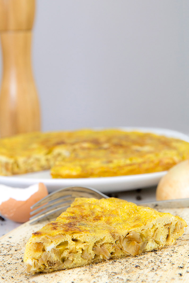 Italian frittata with caramelized onions