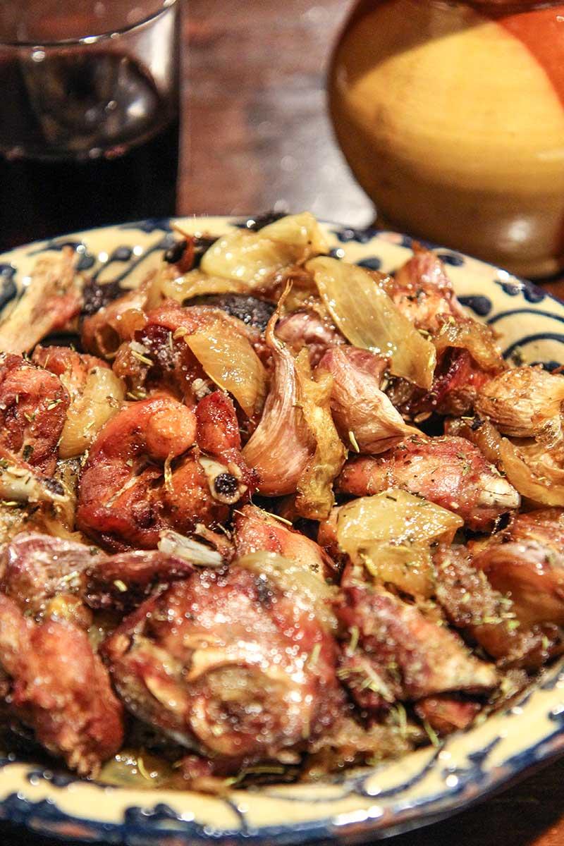 roasted rabbit Spanish style