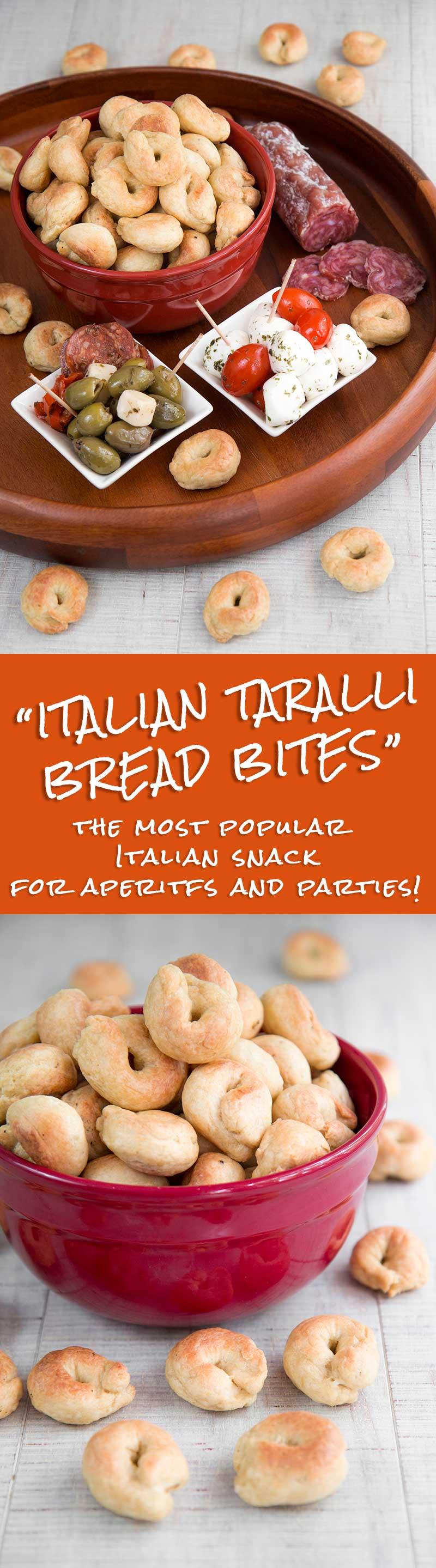 TARALLI RECIPE - Traditional Italian bread snacks for aperitifs and parties!
