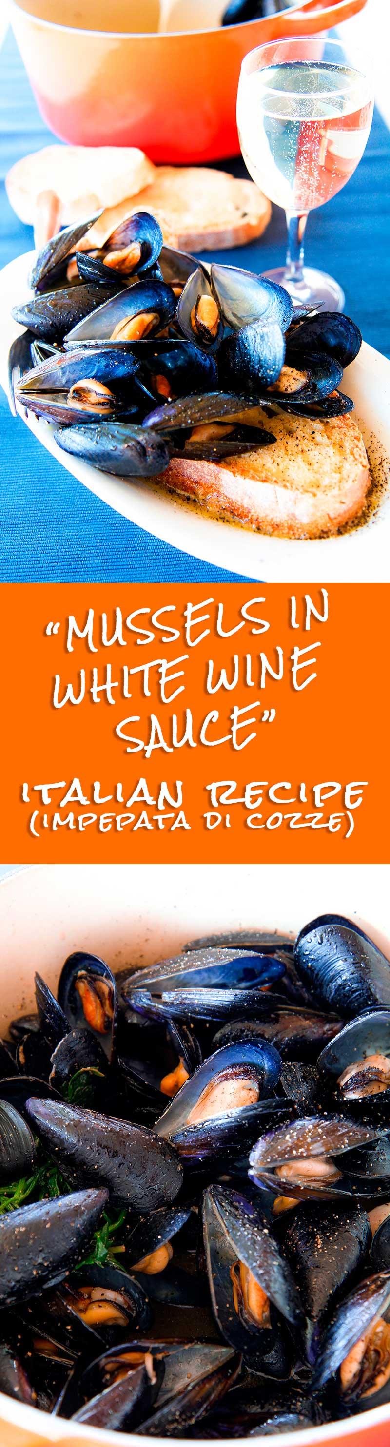 MUSSELS IN WHITE WINE SAUCE Italian recipe (impepata di cozze)