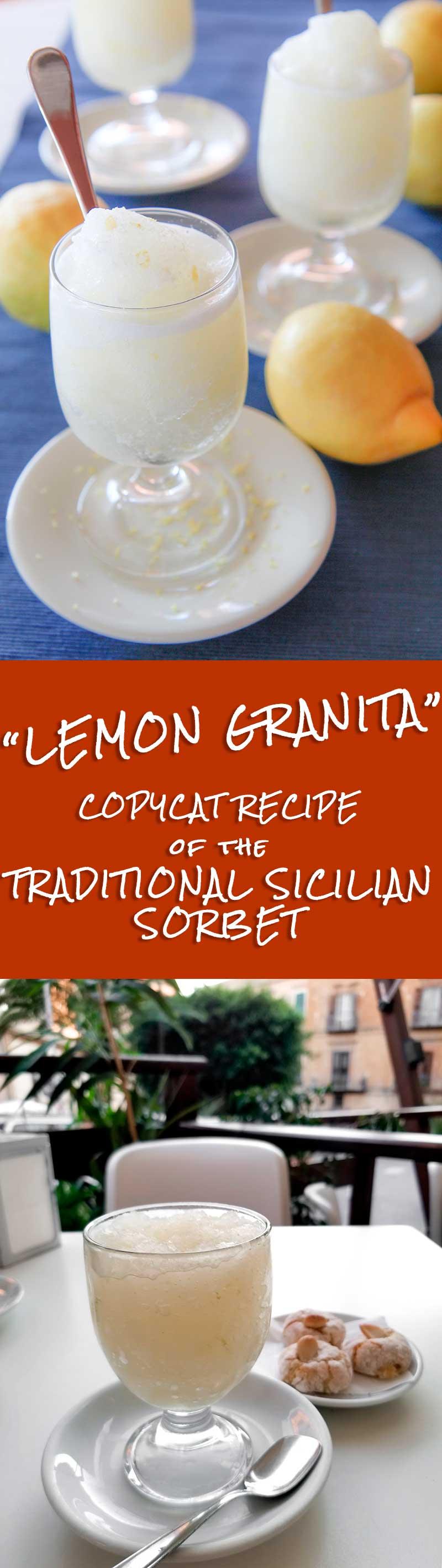 LEMON GRANITA - traditional Sicilian sorbet recipe