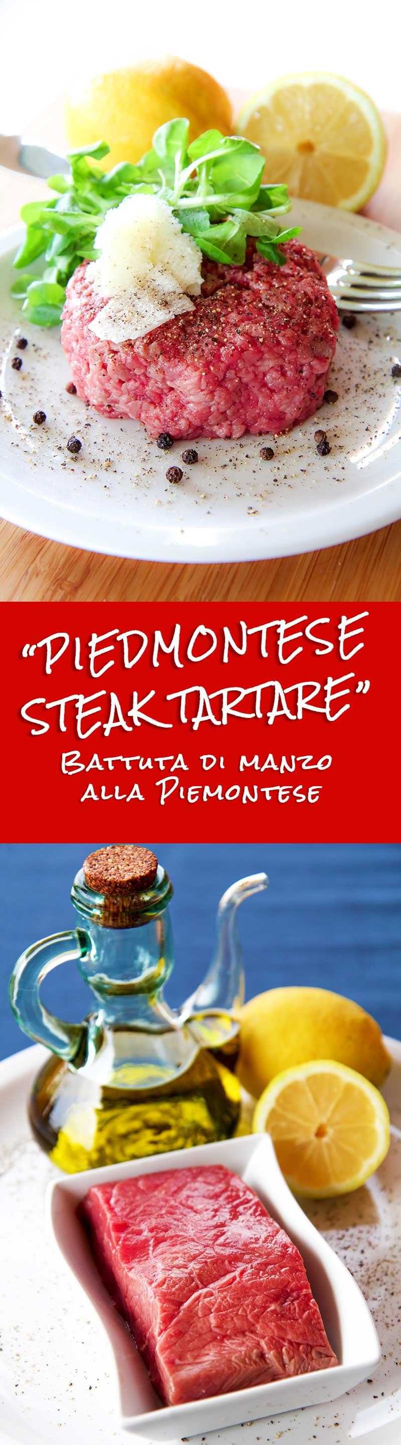 PIEDMONTESE BEEF STEAK TARTARE (Battuta di Manzo alla Piemontese)
