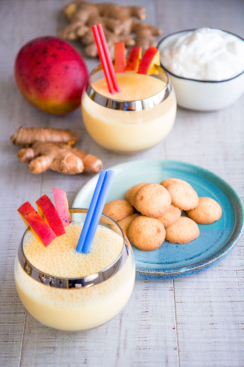 MANGO LASSI RECIPE - Refreshing Indian drink with yogurt, ginger and turmeric