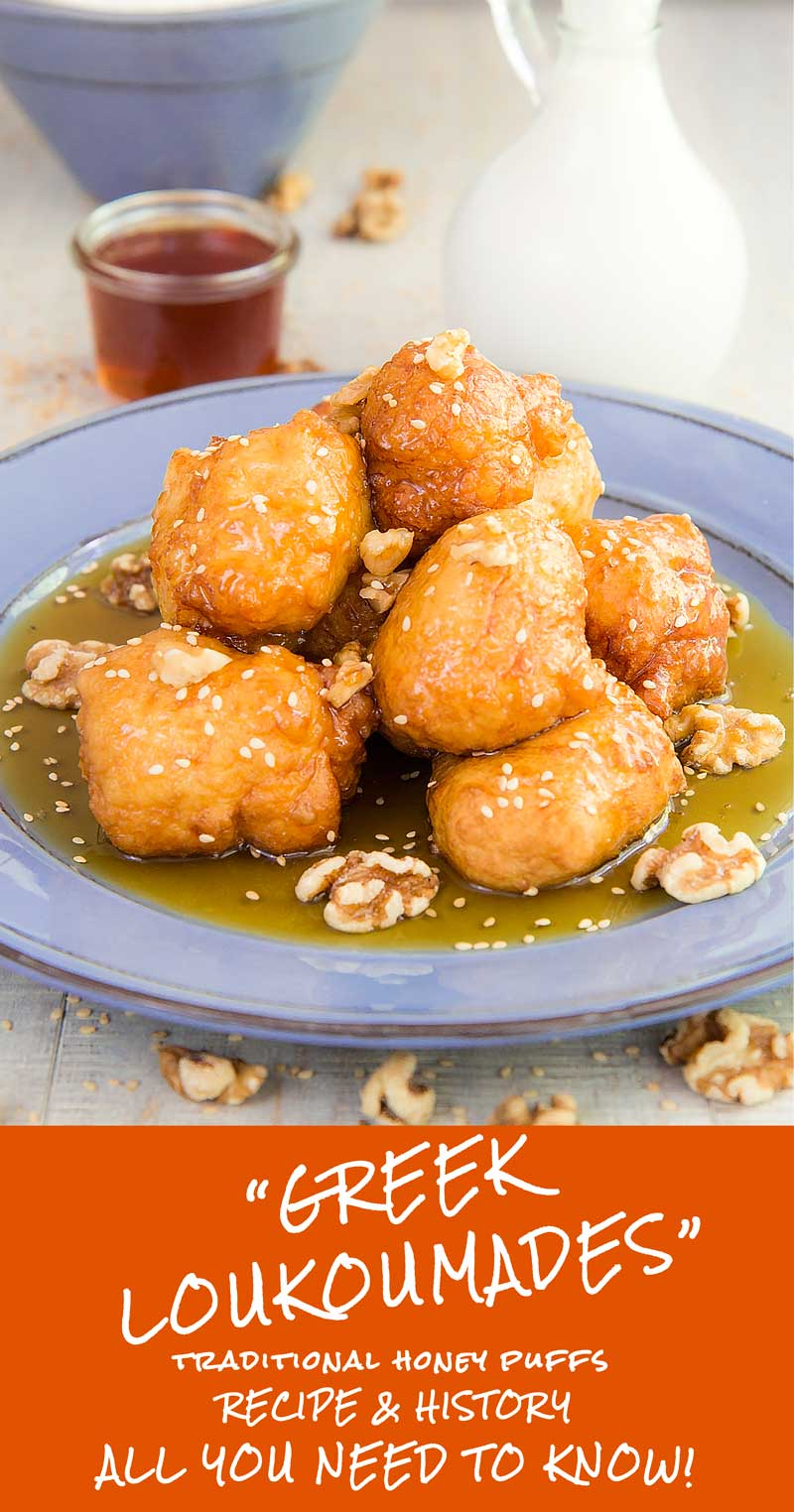 LOUKOUMADES - traditional greek honey puffs recipe & history