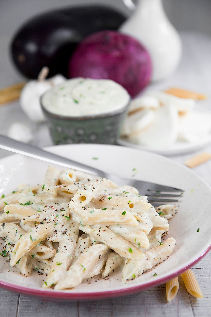 MOZZARELLA AND EGGPLANT SAUCE PASTA