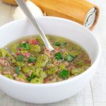 NEAPOLITAN FAVA BEAN SOUP with pancetta and fresh herbs