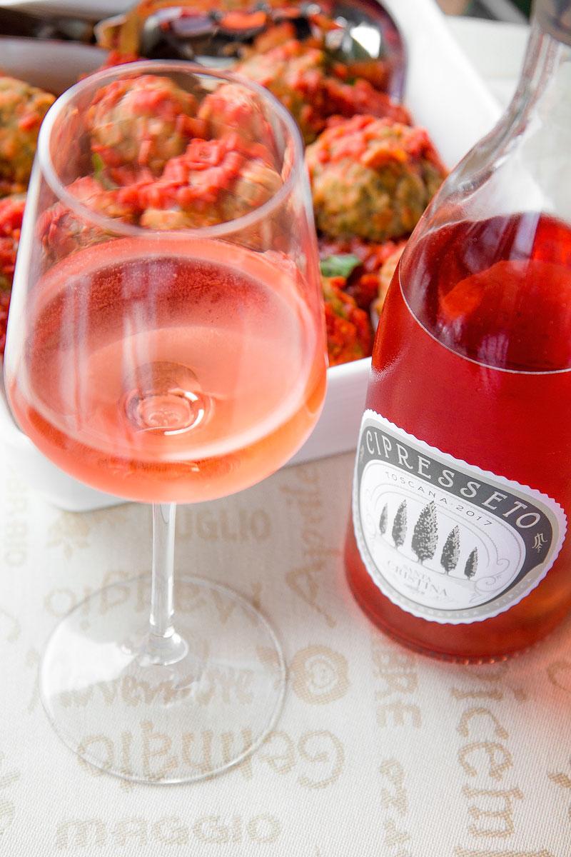 WINE PAIRINGS: CIPRESSETO ROSATO MEETS TUSCAN MEATBALLS