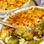 BRUSSELS SPROUTS CASSEROLE with potatoes and bacon