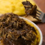 pulled pork braised with red wine