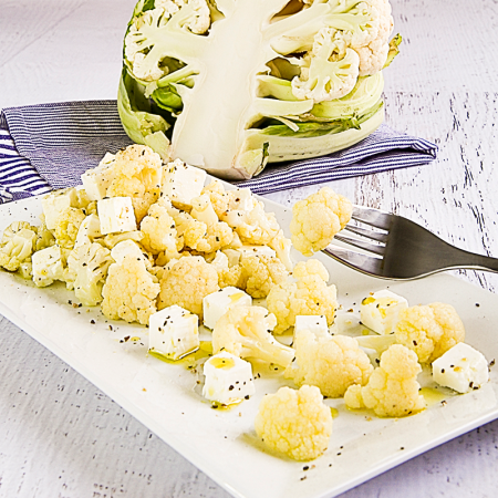 Cauliflower salad with feta