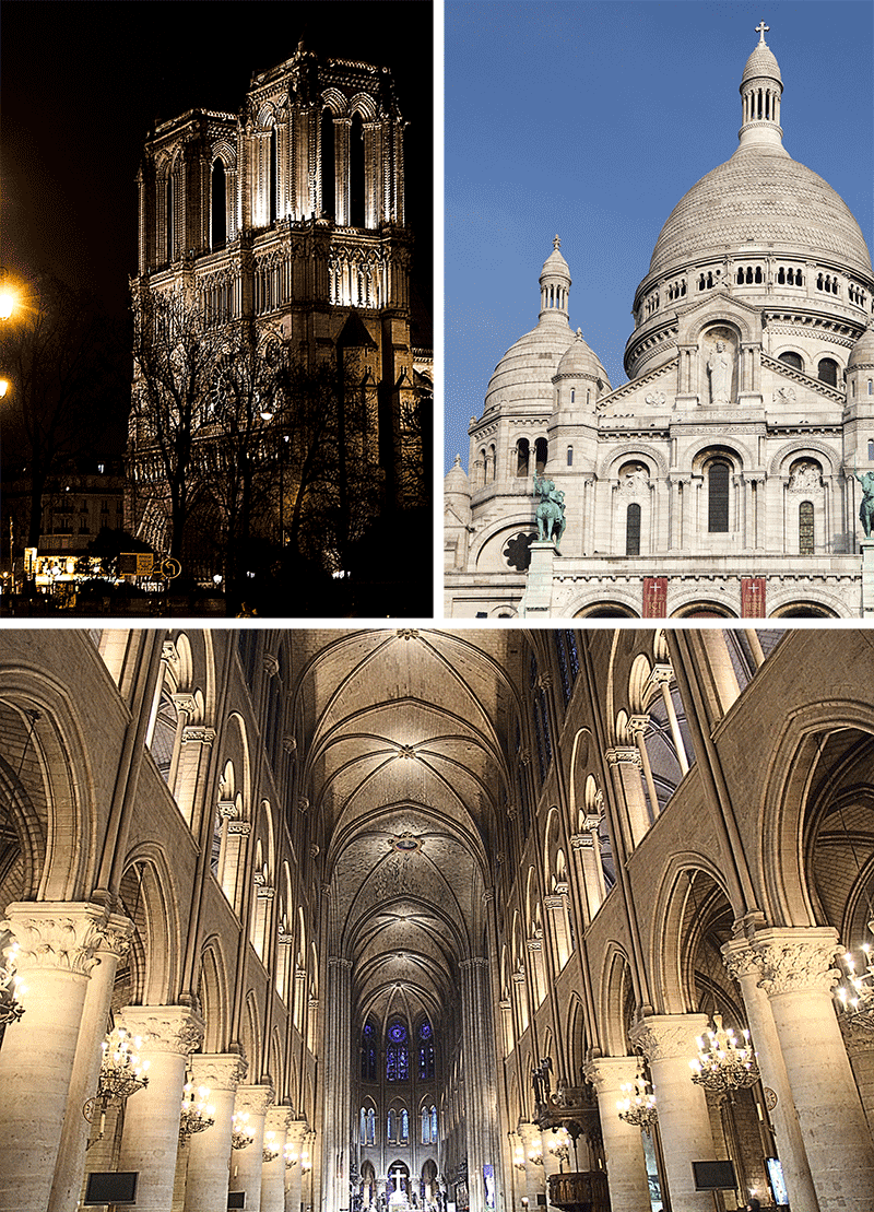 Montmartre and Notre Dame