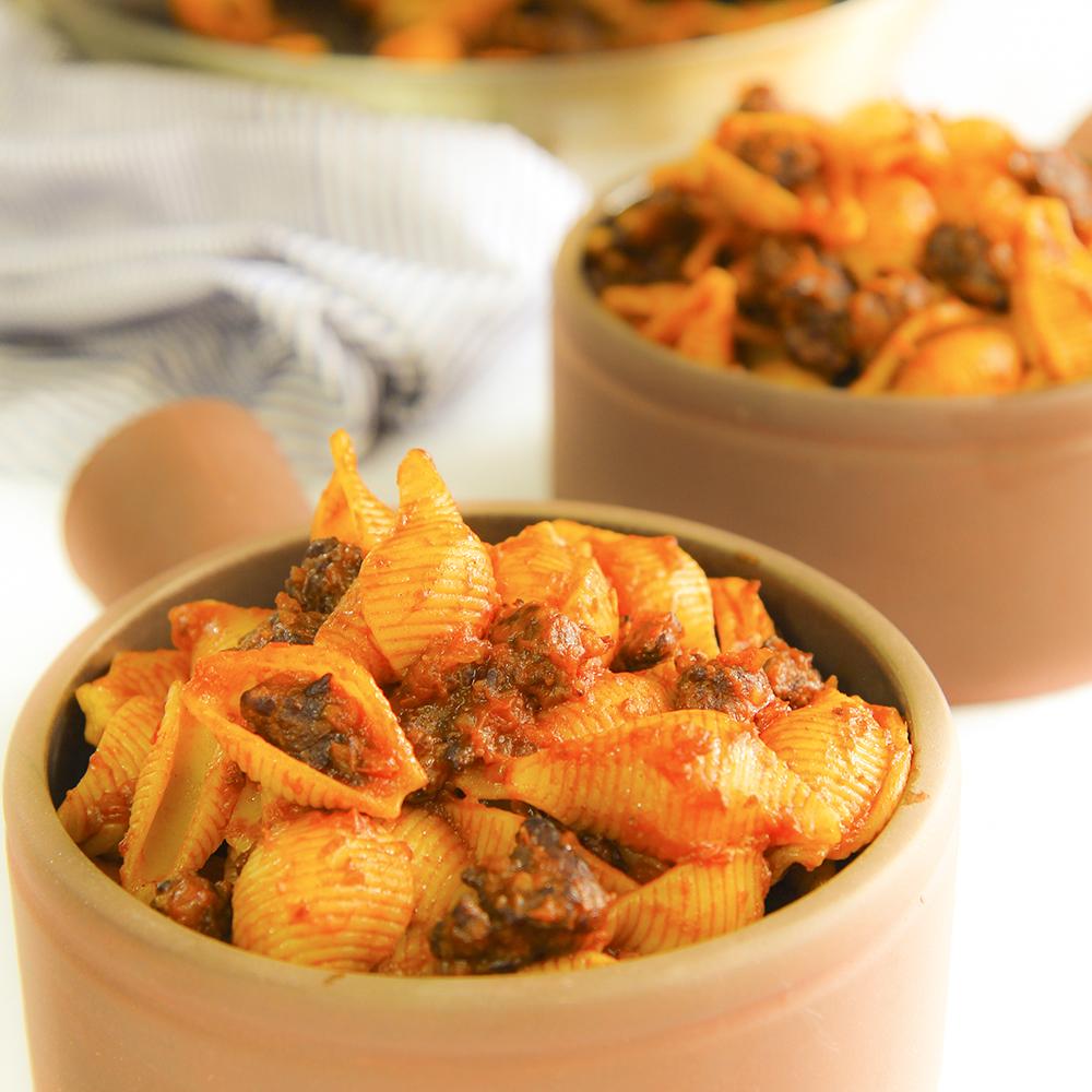 ITALIAN SAUSAGE SAUCE with tomato (ragù di salsiccia al pomodoro)