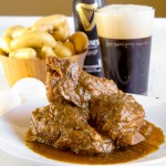 Braised pork ribs with Guinness Beer