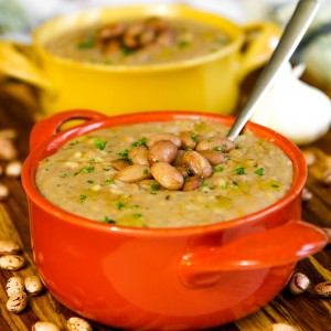 Italian rice and bean soup