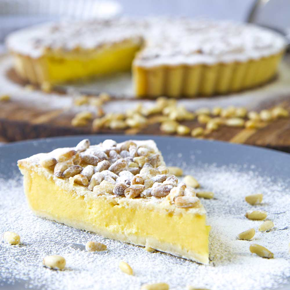 Lemon Pastry Cream Cake