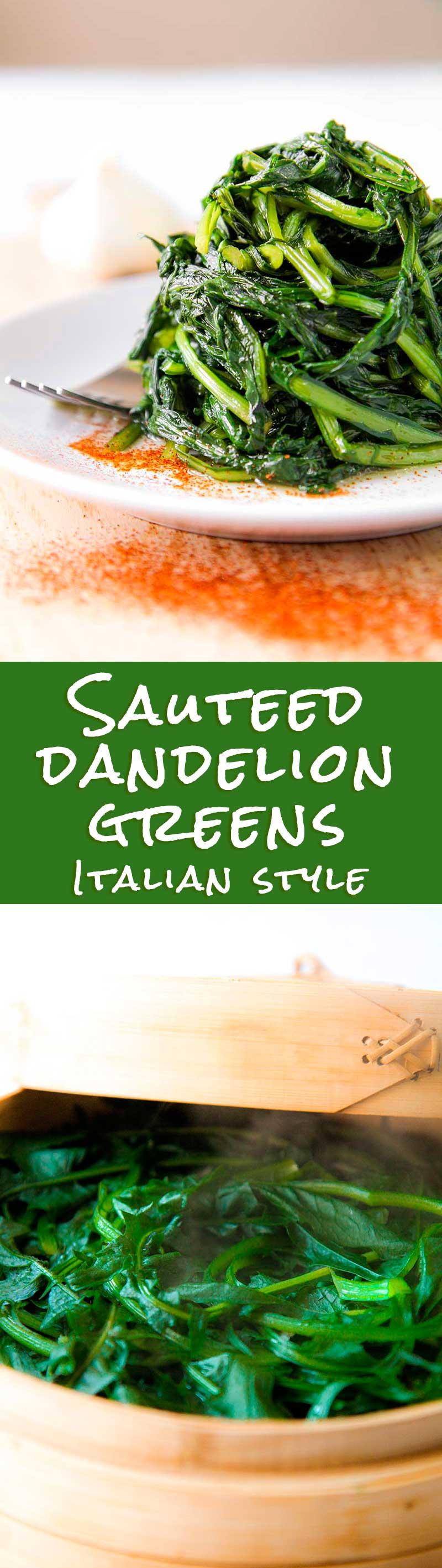 SAUTEED DANDELION GREENS ROMAN STYLE (cicoria alla romana)