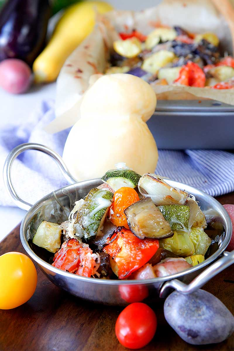 ROASTED MIXED VEGETABLES with provencal herbs and cheese