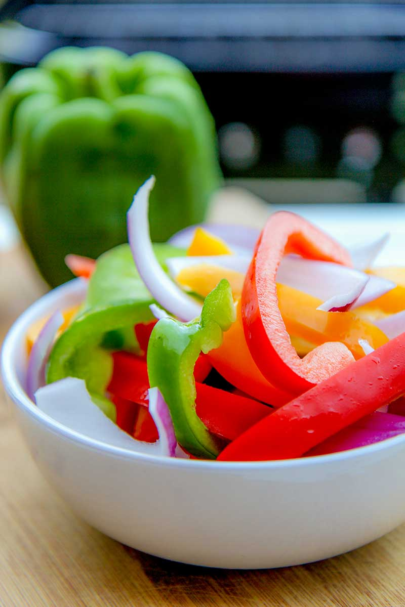 BBQ bell peppers and onions