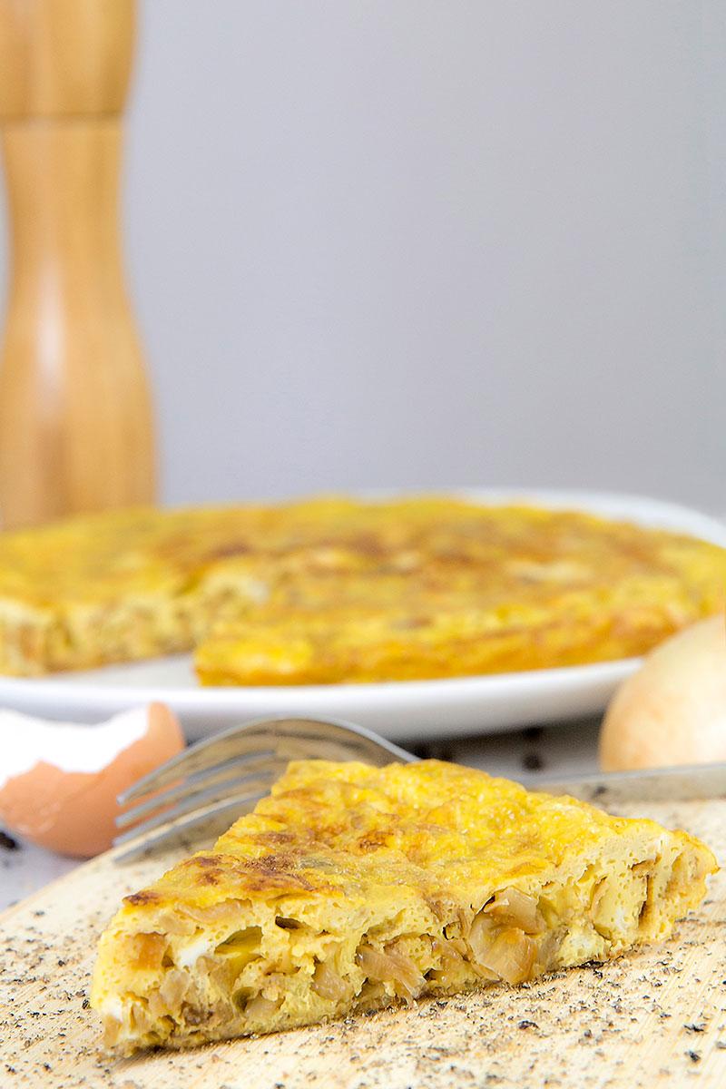 Italian frittata with caramelized onions