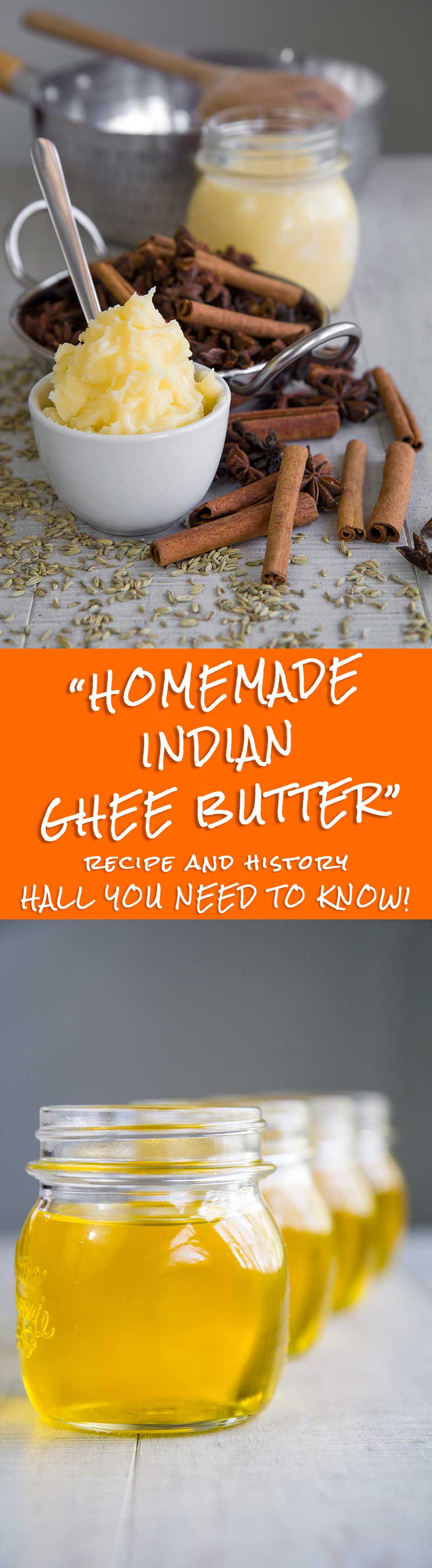 GHEE BUTTER RECIPE & HISTORY - Indian clarified butter