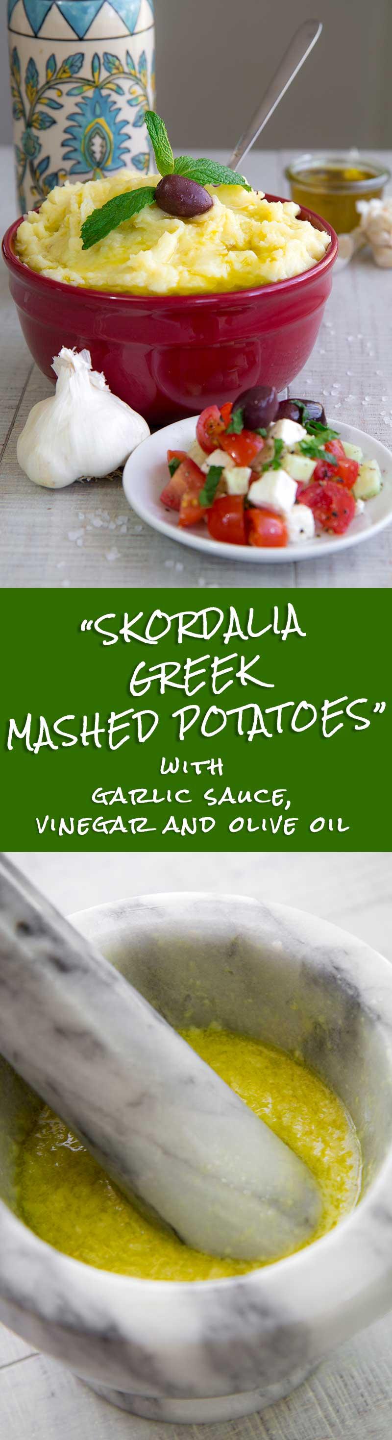 SKORDALIA RECIPE - Greek garlic mashed potatoes