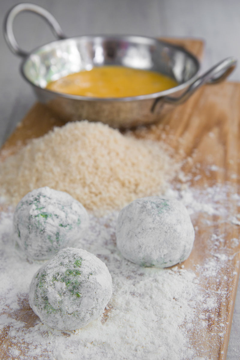 FRIED GNUDI - spinach and ricotta croquettes