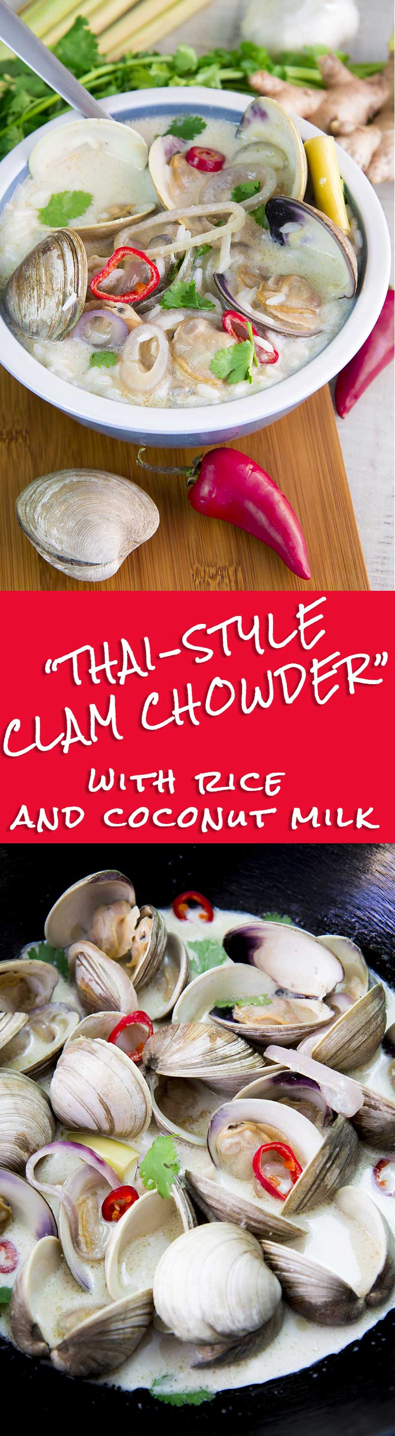 THAI-STYLE CLAM CHOWDER with rice and coconut milk