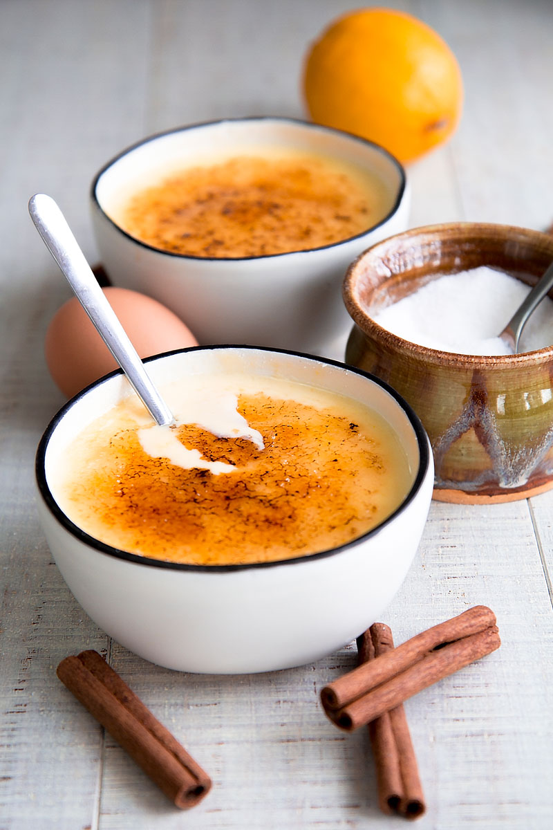 CREMA CATALANA RECIPE & HISTORY - Spanish pastry cream with caramel crust