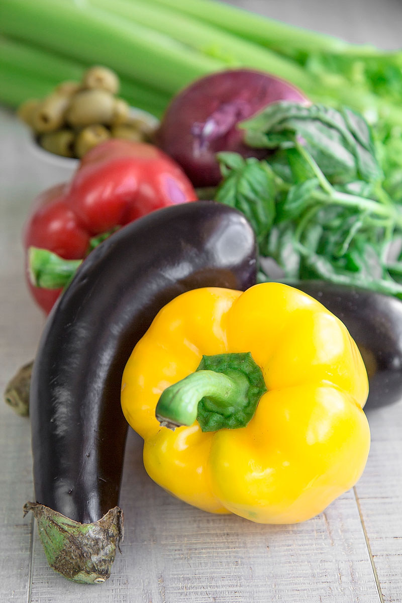 CAPONATA CATANESE - Sicilian appetizer with eggplants and bell peppers