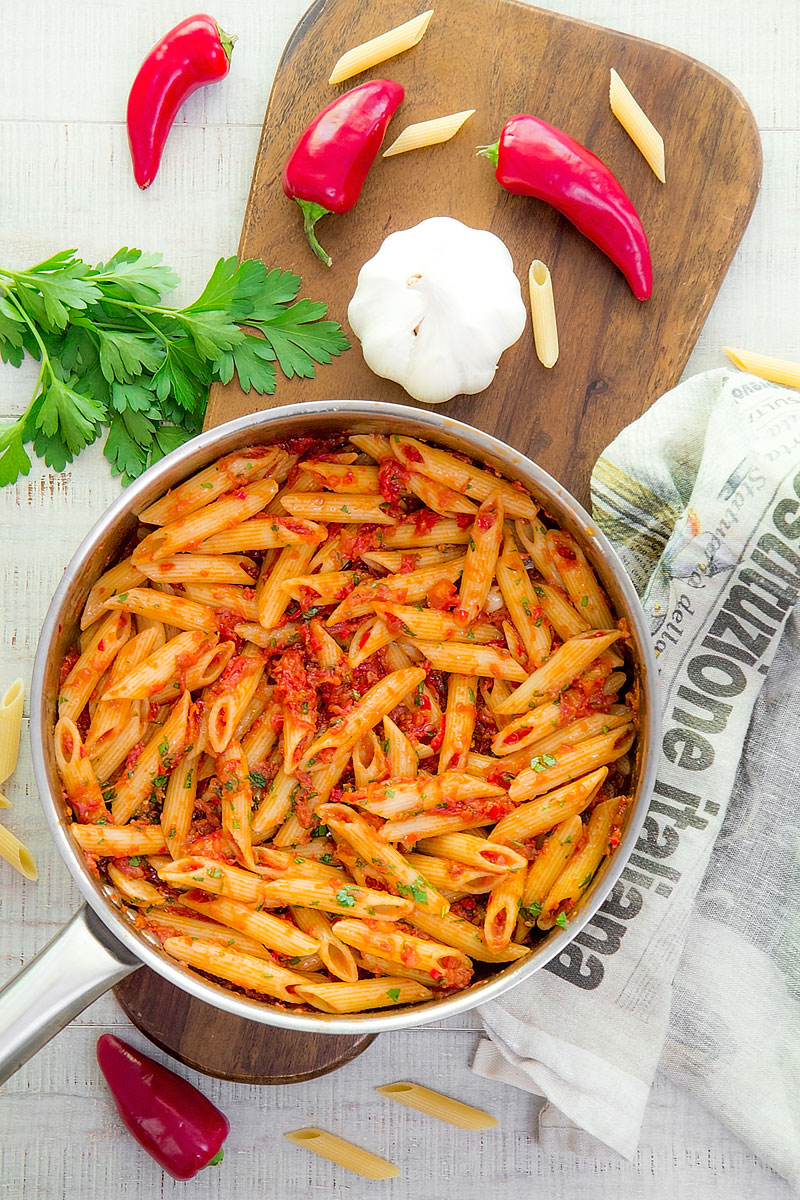 ARRABBIATA SAUCE RECIPE & HISTORY penne all'arrabbiata - all you need to know!