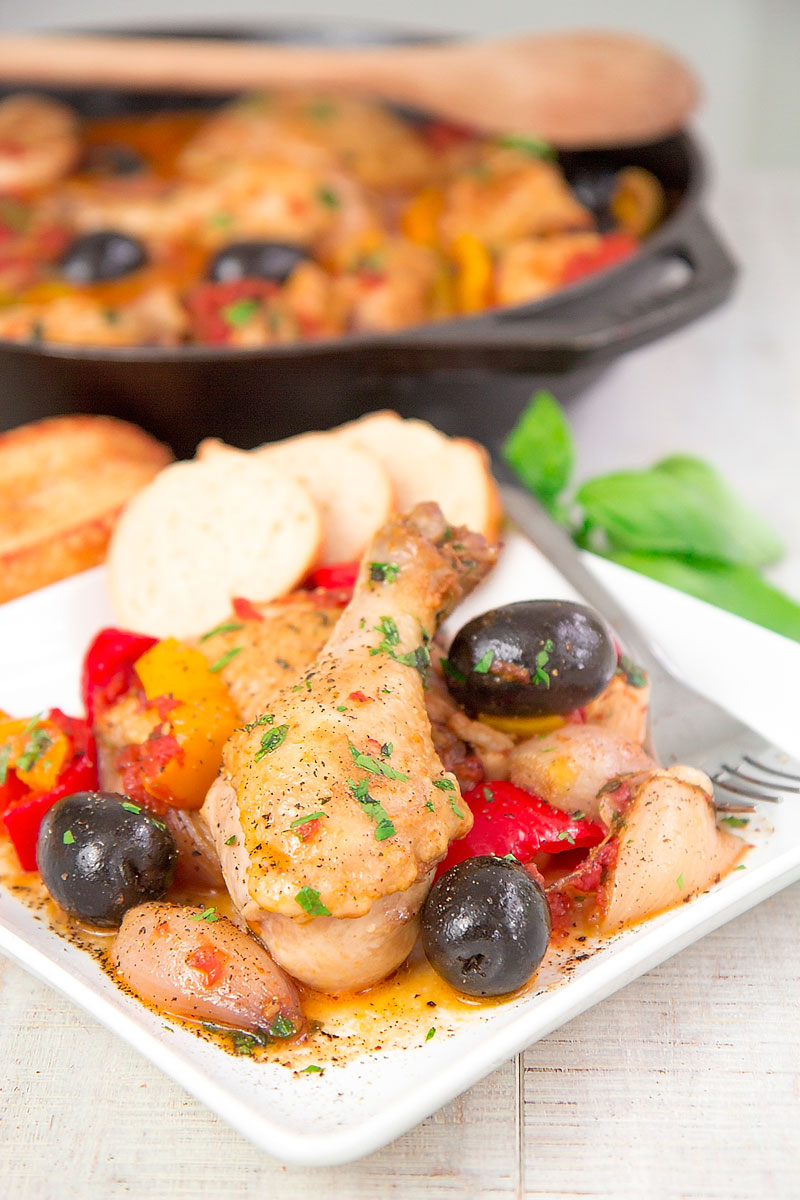 CHICKEN PROVENCAL: traditional French recipe with bell peppers and shallots