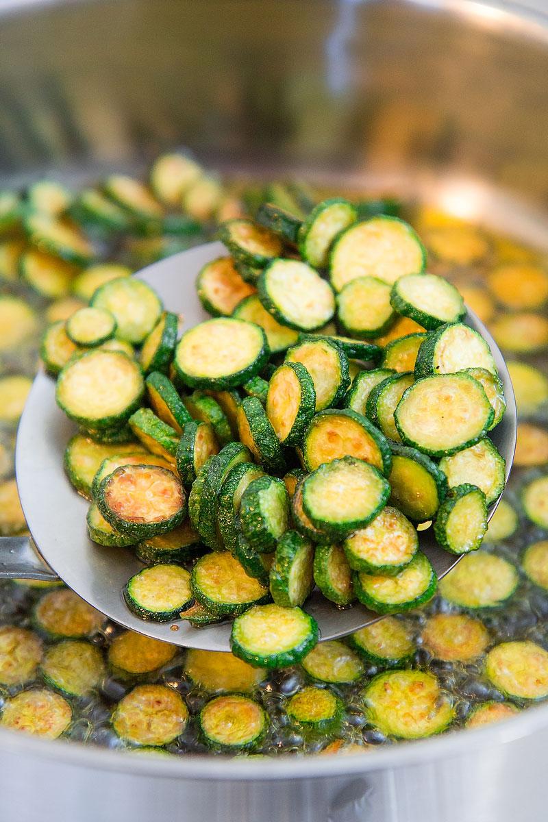 ZUCCHINE ALLA SCAPECE - Italian fried zucchini marinated in vinegar