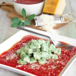 HOMEMADE RICOTTA GNOCCHI with spinach and Parmigiano Reggiano cheese