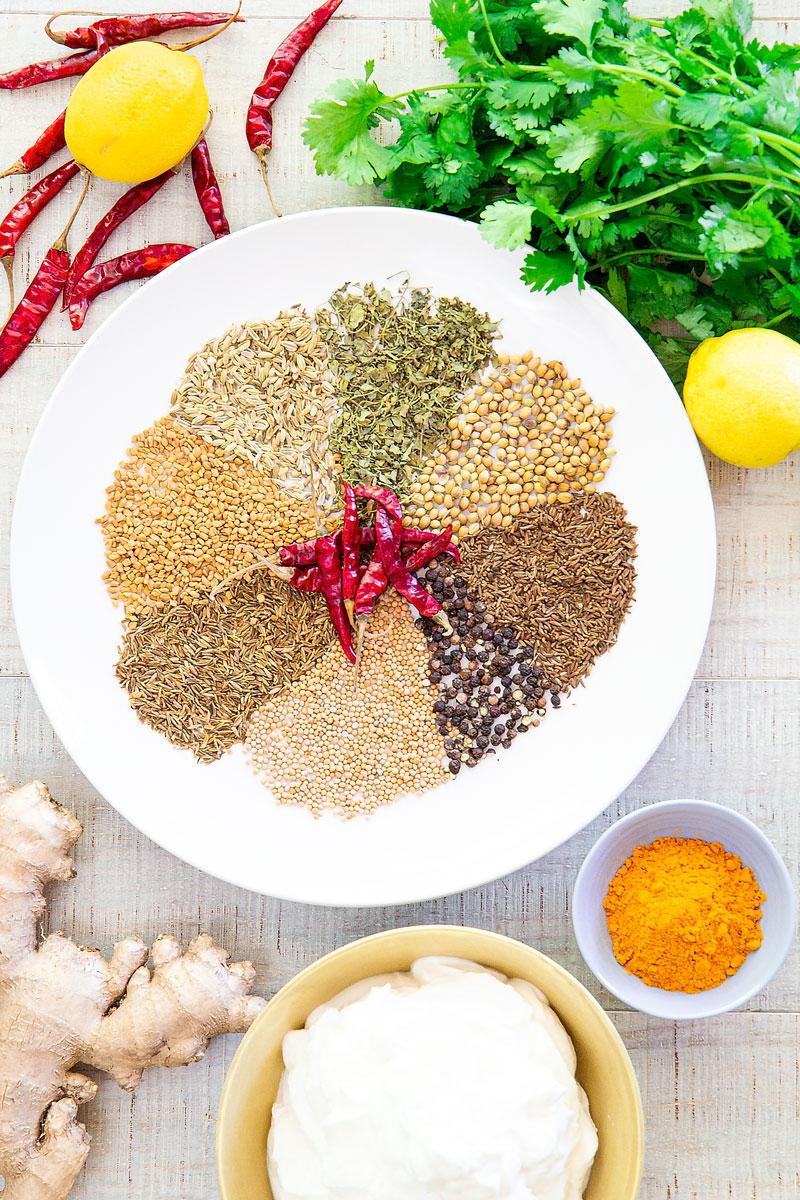 ACHARI CHICKEN GOSHT - Indian spicy and sour chicken stew