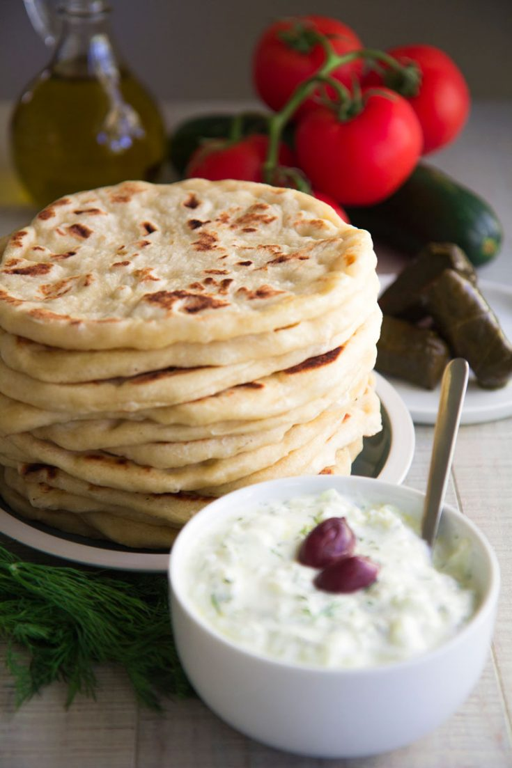 GREEK PITA BREAD RECIPE - easy and tasty!