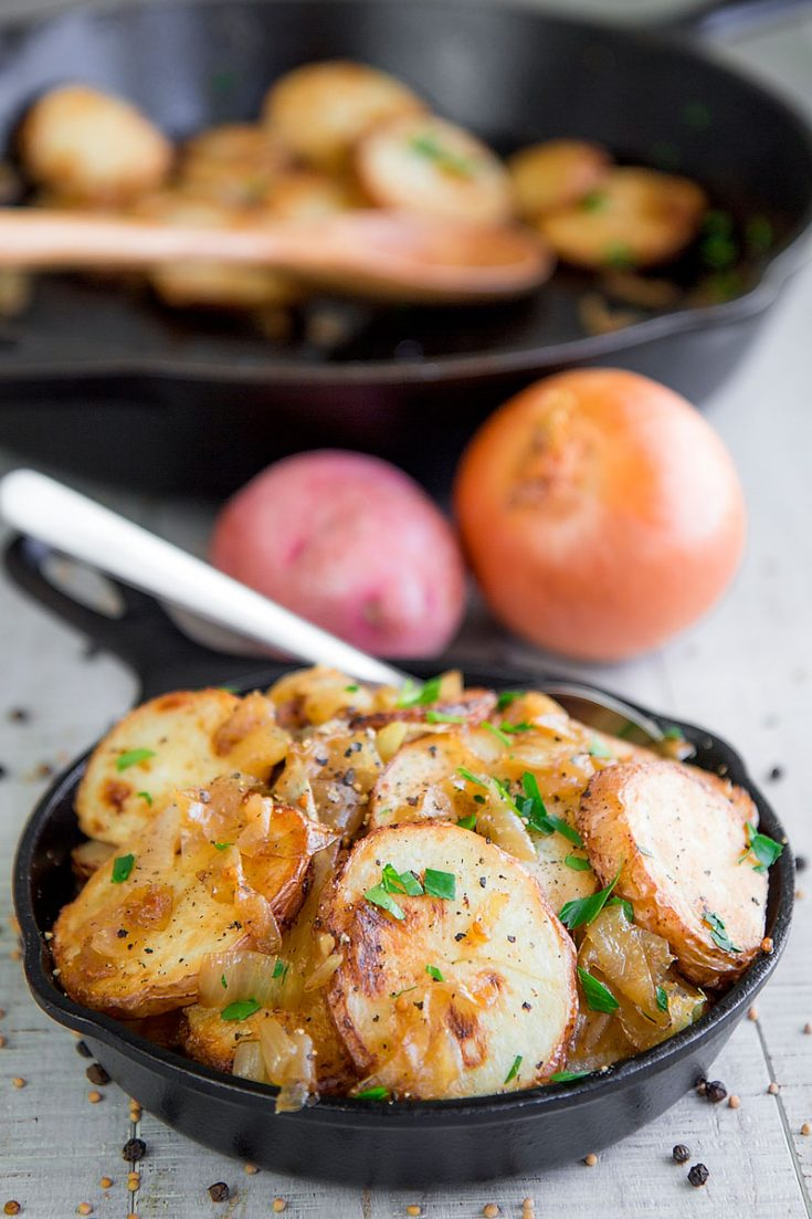LYONNAISE POTATOES - French roasted potatoes with caramelized onions